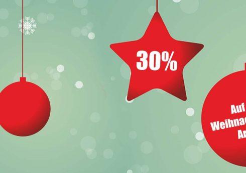 30% Rabatt auf Weihnachtsdeko in Burgebrach